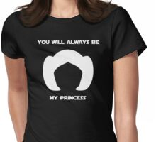 Leia, you will always be my princess - White Womens Fitted T-Shirt