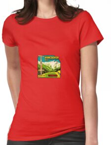 Vancouver BC Stanley Park Vintage Travel Decal Womens Fitted T-Shirt