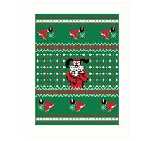 Festive Duck Hunt Sweater Art Print