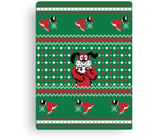 Festive Duck Hunt Sweater Canvas Print