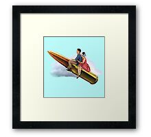 To the moon Alice! Framed Print