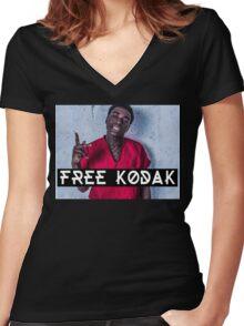 Free Kodak Black Women's Fitted V-Neck T-Shirt