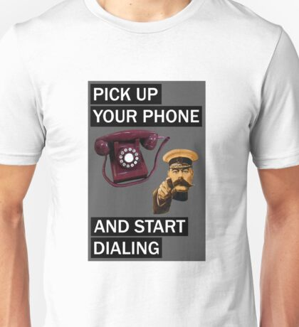 Wolf of wall street - pick up your phone and start dialing Unisex T-Shirt