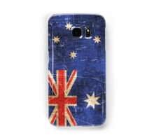 Vintage Aged and Scratched Australian Flag Samsung Galaxy Case/Skin