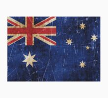 Vintage Aged and Scratched Australian Flag Kids Clothes
