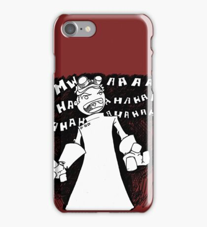 Doctor Horrible - Non Transparent Evil Laugh iPhone Case/Skin