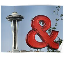 Iconic Seattle Photographs Poster