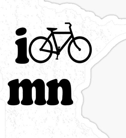 I Bike Minnesota T Shirt Sticker