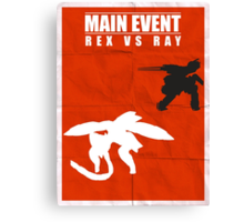 Rex Vs Ray Canvas Print