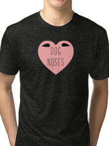 I Love Dog Noses Heart | Dogs | Doggie Tri-blend T-Shirt