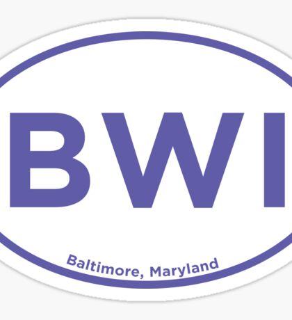 Baltimore Airport Code BWI Sticker