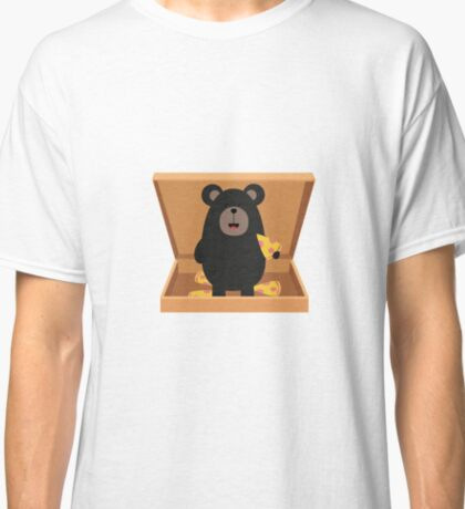 Grizzly in Pizzabox Classic T-Shirt