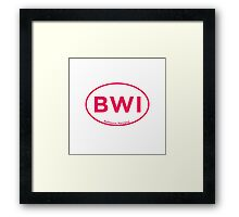 Baltimore Airport Code BWI Framed Print
