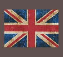 Vintage Aged and Scratched British Flag Kids Clothes