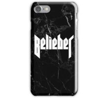 Belieber - Black & White Marble iPhone Case/Skin