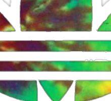 rainbow tie dye leaf Sticker