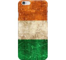 Vintage Aged and Scratched Irish Flag iPhone Case/Skin