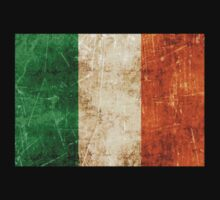 Vintage Aged and Scratched Irish Flag Kids Clothes