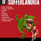 Official Tour of Sufferlandria 2017 Poster - FEMALE Rider by GvA The Sufferfest