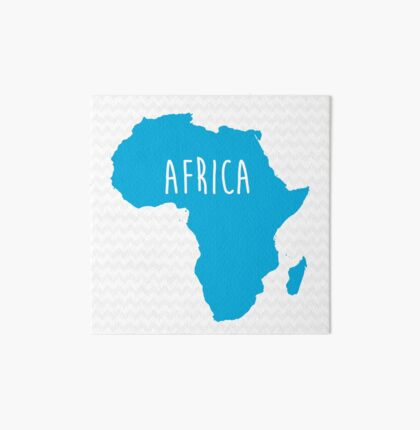 Africa Chevron Continent Series Art Board