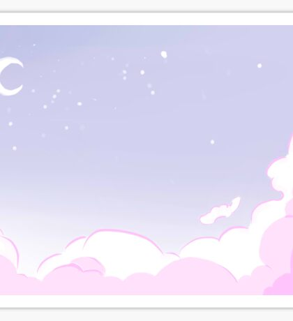 Pastel Night Sky Sticker