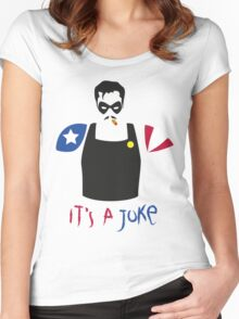 A Joke Women's Fitted Scoop T-Shirt