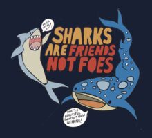 sharks are friends, not foes Kids Tee