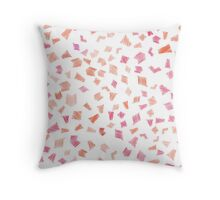 Abstract seamless scribble shape pattern Throw Pillow
