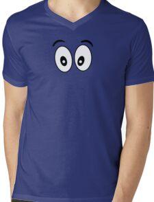Silly Face - Cartoon Eyes - Funny Kid Print Mens V-Neck T-Shirt