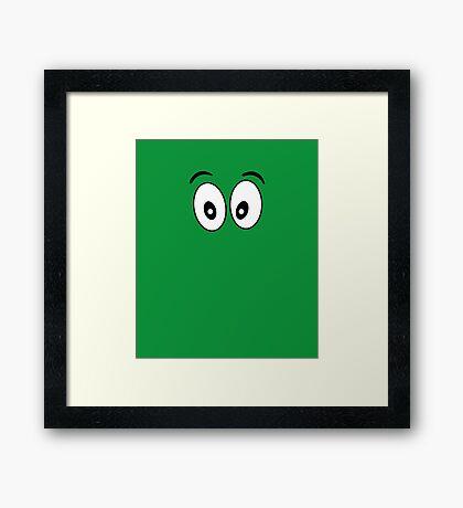 Silly Face - Cartoon Eyes - Funny Kid Print Framed Print