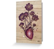 Aeonium Heart Greeting Card