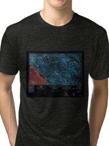 USGS TOPO Map California CA Santa Ana 707588 1959 250000 geo Inverted Tri-blend T-Shirt