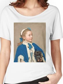 Portrait of Maria Frederike van Reede-Athlone - Jean-Étienne Liotard - 1755 Women's Relaxed Fit T-Shirt