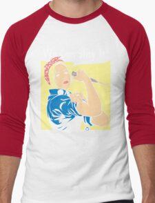 Buffy the Riveter Men's Baseball ¾ T-Shirt