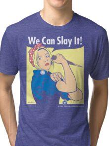 Buffy the Riveter Tri-blend T-Shirt