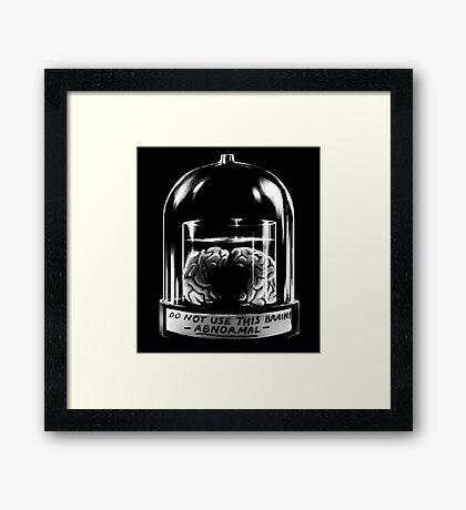 Abby Normal BLACK Framed Print