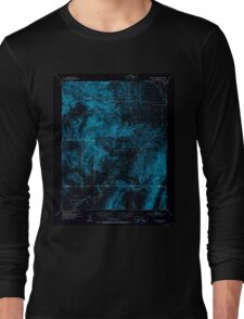 USGS TOPO Map California CA Wingate Wash 302010 1950 62500 geo Inverted Long Sleeve T-Shirt