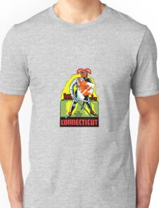 Connecticut CT State Vintage Travel Decal Unisex T-Shirt