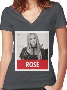 BLACKPINK - Rosé Women's Fitted V-Neck T-Shirt