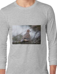 Mourning Dove Sitting Pretty Long Sleeve T-Shirt