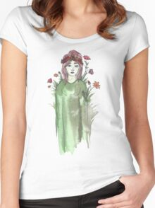 Can I Just Be a Flower Instead? Women's Fitted Scoop T-Shirt