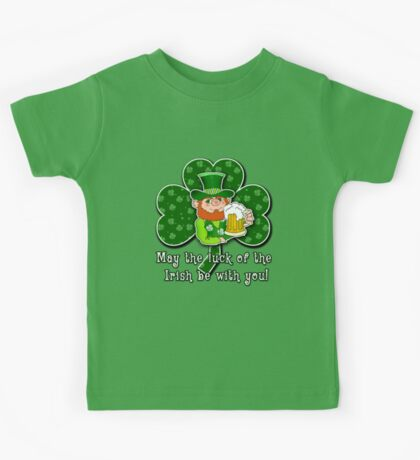 Luck O'the Irish ST PATRICKS DAY Kids Tee