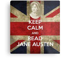 Keep Calm and Read Jane Austen Metal Print
