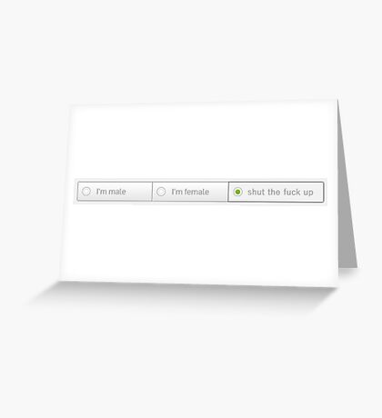 please select gender Greeting Card