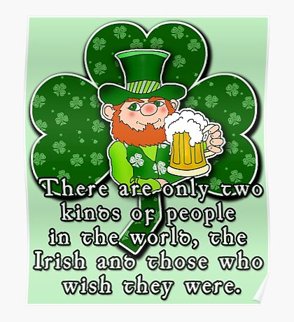 Irish Wisdom Irish Pride ST PATRICKS DAY Poster