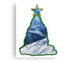 Christmas Tree Snow Scene Canvas Print