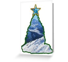 Christmas Tree Snow Scene Greeting Card