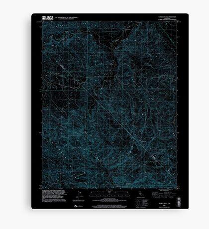USGS TOPO Map California CA Tumey Hills 102068 2000 24000 geo Inverted Canvas Print