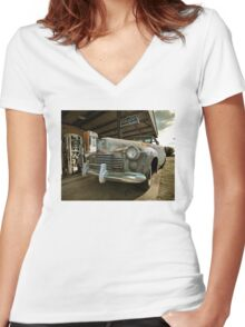 Abandoned 1944 Cadillac Women's Fitted V-Neck T-Shirt