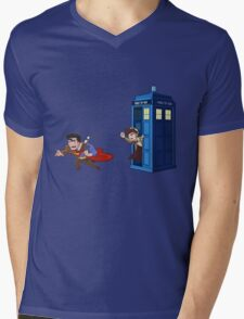 Wrong Phonebooth Mens V-Neck T-Shirt